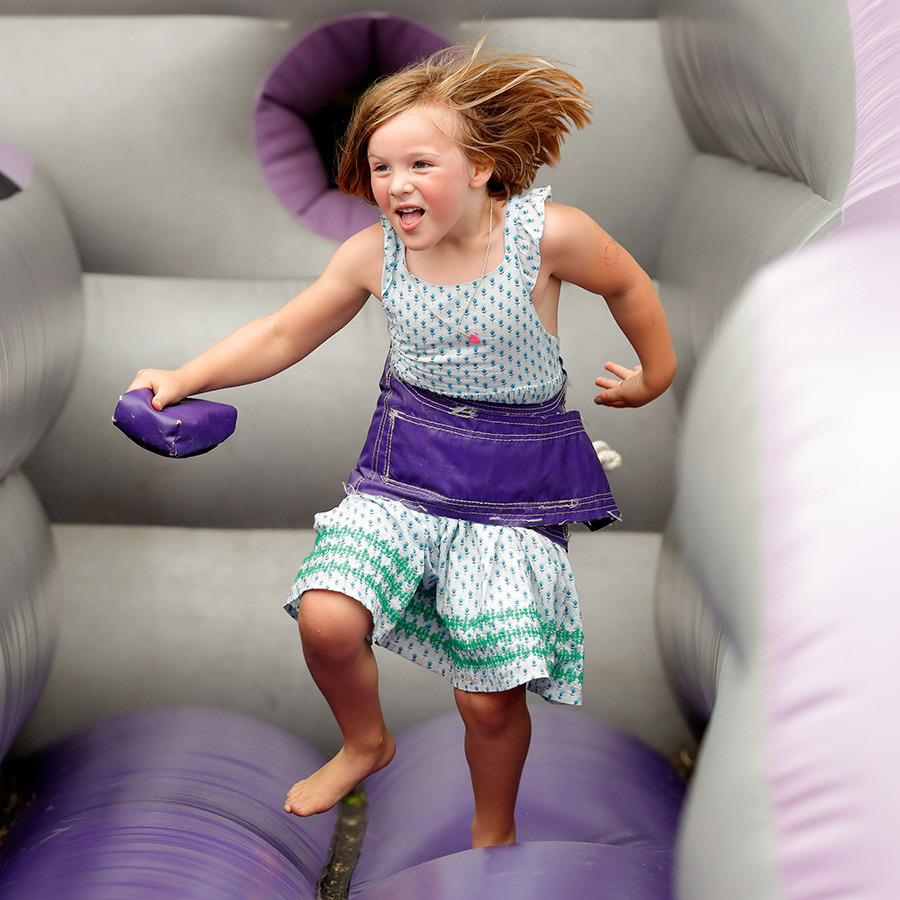 Mia had the best time in a bouncy castle there the day before!
