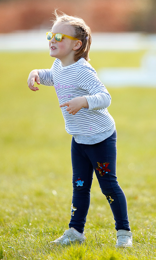 Mia Tindall wore some pretty cool shades to the Gatscombe Horse Trials in March!