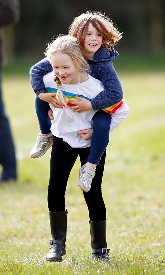 She also got an awesome piggyback from cousin <strong><A href=/tags/0/savannah-phillips>Savannah Phillips</a></strong>!