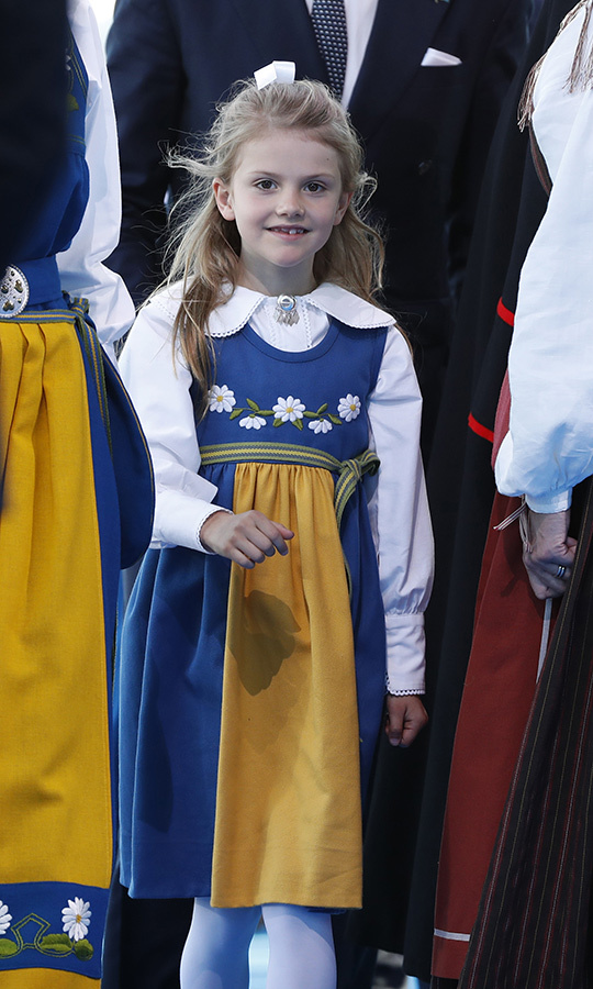 <strong><a href=/tags/0/princess-estelle>Princess Estelle</a></strong> was dressed very patriotically for Sweden's National Day on June 6. 