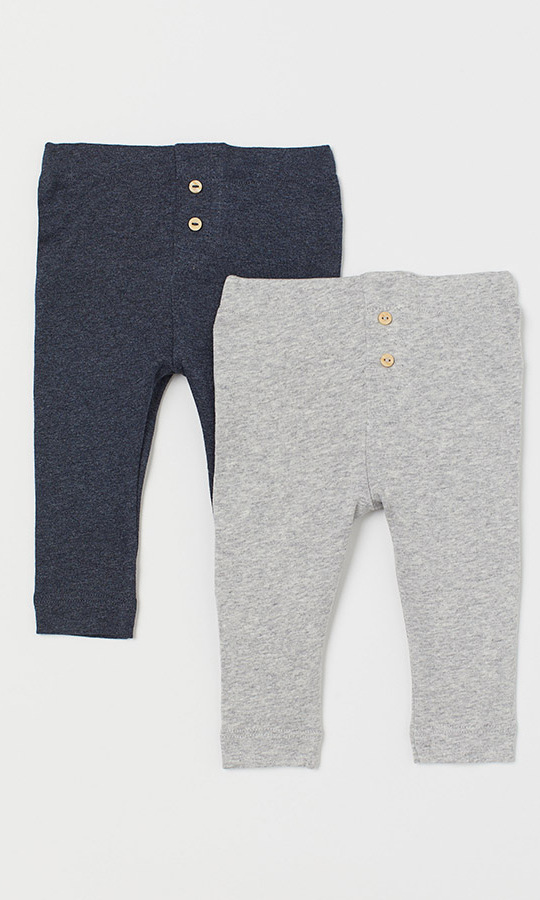 "These leggings by <a href=""https://ca.hellomagazine.com/tags/0/h-and-m""><strong>H&M</strong></a> are super soft and easy to get on. They are from the retailer's Conscious range and are crafted out of organic cotton jersey with an elasticated waistband and mock fly with button detail. There are multiple colour combinations to pick from!</p><p>2-Pack Leggings, $17.99, <a href=""https://www2.hm.com/en_ca/productpage.0757413004.html"">H&M</a></p><p>Screenshot via hm.com"