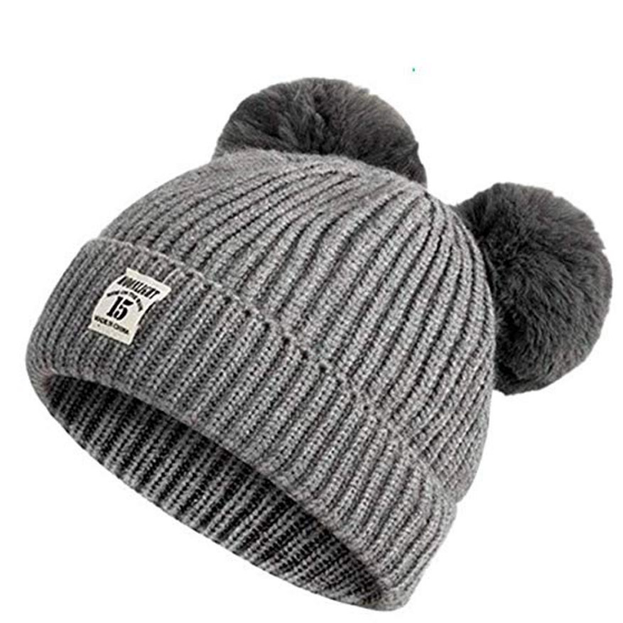 "This playful grey double bobble hat will keep tiny heads warm from cold winds! It is suitable for children 0 to 5 years old. The warm hat has a super stretchy design so it won't feel restrictive.</p><p>Boqiao Infant and Baby Hat, $10.21, <a href=""https://www.amazon.com/Boqiao-Infant-Toddler-Newborn-Beanies/dp/B07MBS725J/ref=sr_1_3?dchild=1&keywords=BAVY+GRAY+pompom+HAT&qid=1577980409&sr=8-3-spell"" target=""_blank"">Amazon</a></p><p>Screenshot via amazon.com"