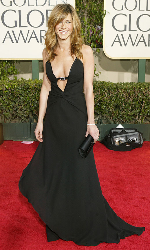 "<h2>Jennifer Aniston, 2004</h2><p>This black <a href=""https://ca.hellomagazine.com/tags/0/valentino"" target=""_blank""><strong>Valentino</strong></a> gown with buckle detail encapsulated <a href=""https://ca.hellomagazine.com/tags/0/jennifer-aniston"" target=""_blank""><strong>Jennifer Aniston</strong></a>'s minimalist, timeless style. It fit her perfectly and managed to feel effortless, which isn't an easy thing to achieve with a red carpet gown! Over 15 years on, it still feels like she could wear it on the red carpet today.</p><p>Photo: © Carlo Allegri/Getty Images"
