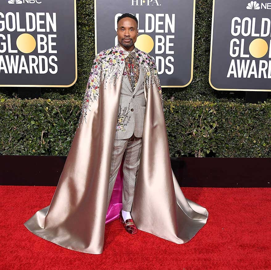 "<h2>Billy Porter, 2019</h2><p>Every red carpet is better when <a href=""https://ca.hellomagazine.com/tags/0/billy-porter"" target=""_blank""><strong>Billy Porter</strong></a> is on it. He shone at the 2019 Golden Globes when he scooped up the Golden Globe Award for Best Performance by an Actor in a Television Series – Drama for <em><strong><a href=""https://ca.hellomagazine.com/tags/0/pose"" target=""_blank"">Pose</a></strong></em>. He wore a silver embroidered suit and cape by <a href=""https://ca.hellomagazine.com/tags/0/Randi-Rahm"" target=""_blank""><strong>Randi Rahm</strong></a><strong></strong> featuring a shocking pink lining. And he worked every inch of his outfit like a pro.</p><p>Photo: © Steve Granitz/WireImage"