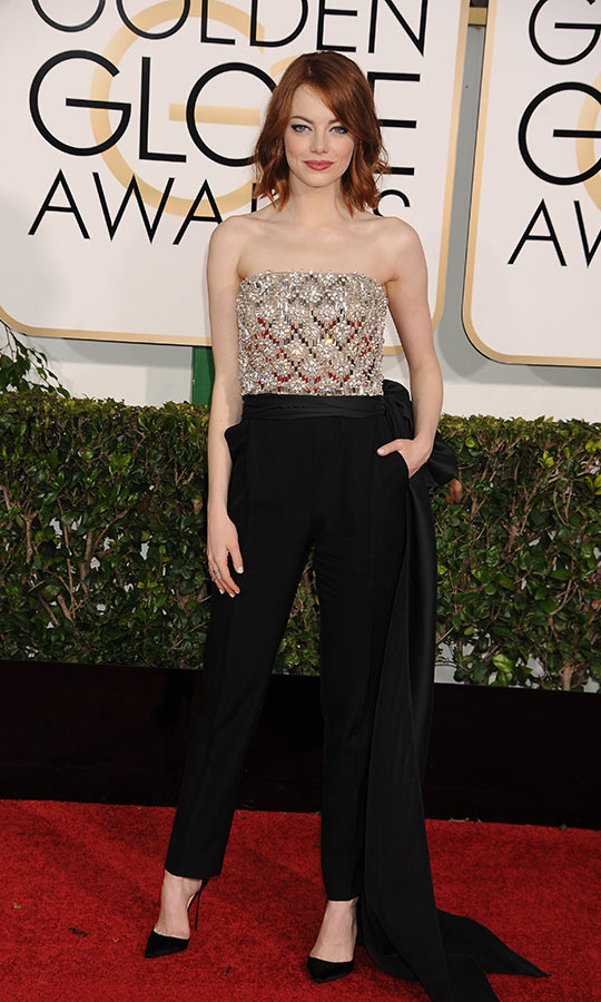 <h2>Emma Stone, 2015</h2><p>It isn't just about dresses. Fashion-forward