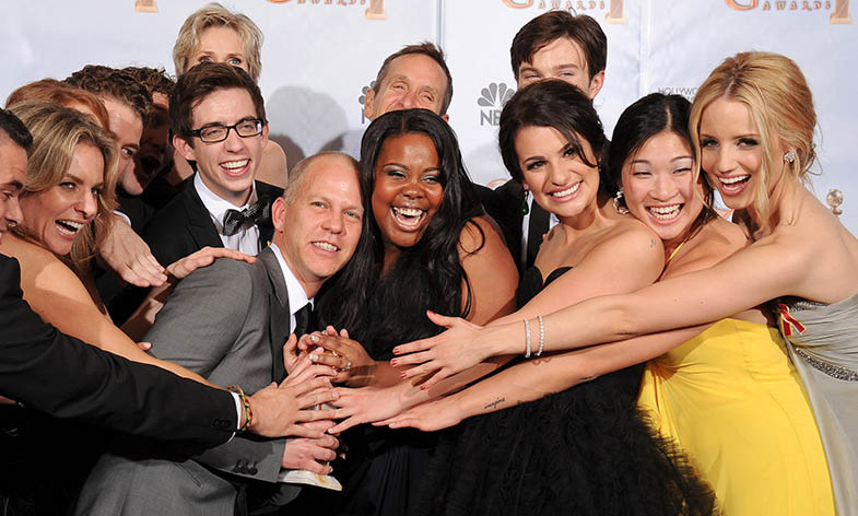 <h2>Best Television Series - Musical or Comedy: <em>Glee</em></h2><p><em><strong>Glee</strong> </em> captured the hearts of many fans. And the TV series also picked up the Best Television Series - Musical or Comedy award. Other nominees in the category included <em><strong>Modern Family</strong></em>, <em><strong>30 Rock</strong></em>, <em><strong>The Office</strong></em> and <em><strong>Entourage</strong></em>.</p><p>Photo: © George Pimentel/WireImage