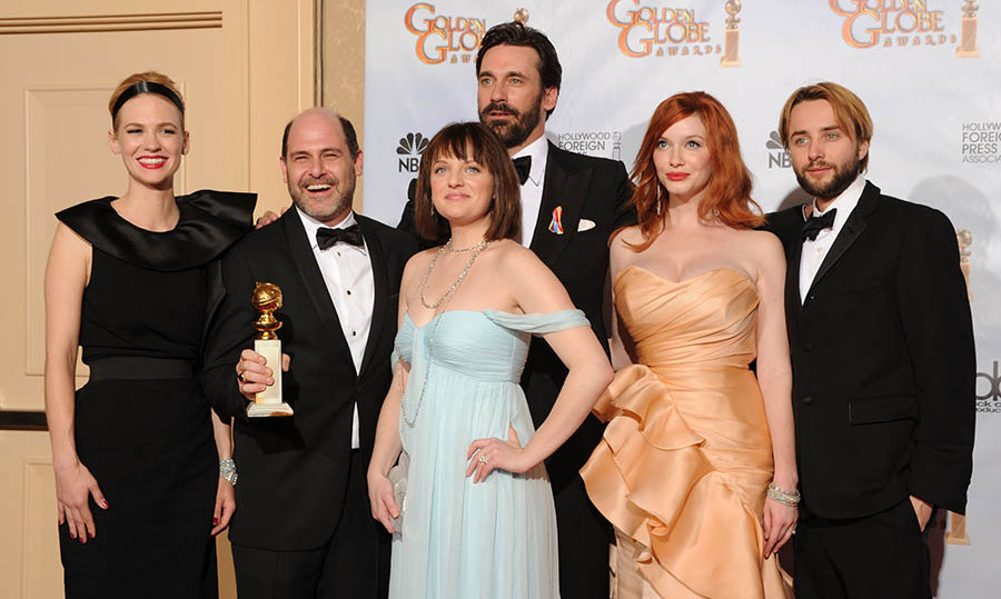 <h2>Best Television Series - Drama: <em>Mad Men</em></h2><p>The cast of <em><strong>Mad Men</strong></em> was honoured with the Best Television Series - Drama award, beating out <em><strong>Dexter</strong></em>, <em><strong>Big Love</strong></em>, <em><strong>True Blood</strong></em> and <em><strong>House</strong></em>.</p><p>Photo: © Kevin Winter/Getty Images