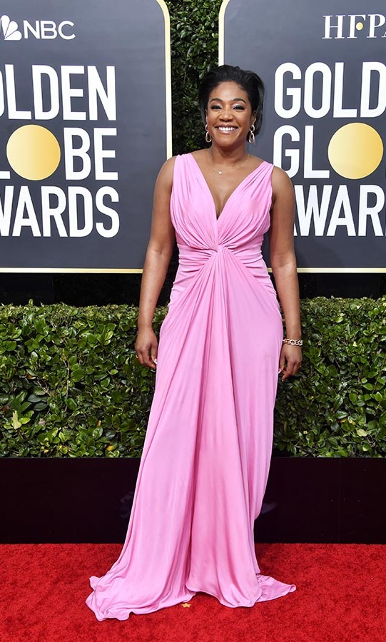 <a href=/tags/0/tiffany-haddish><strong>Tiffany Haddish</strong></a> lit up the red carpet in a cotton candy pink dress!<p>Photo: &copy; Getty Images