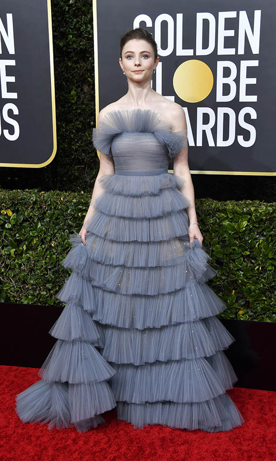 <a href=/tags/0/thomasin-mckenzie><strong>Thomasin McKenzie</strong></a> looked ready for a celebration in a ruffled tulle gown. <p>Photo: &copy; Frazer Harrison/Getty Images