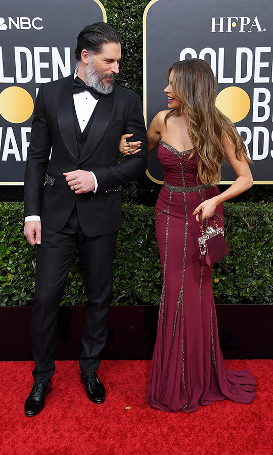 <strong><a href=/tags/0/joe-manganiello>Joe Manganiello</a></strong> and <strong><a href=/tags/0/sofia-vergara>Sofia Vergara</a></strong> are always adorabe together, and this year's Golden Globes was no exception.