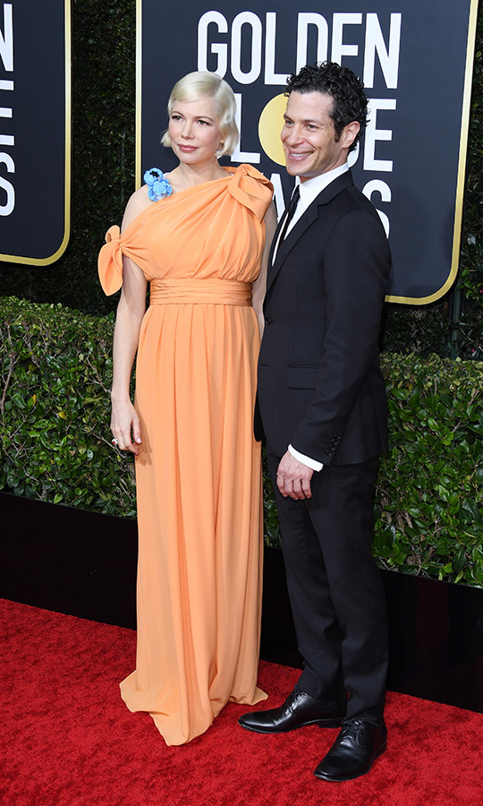 <strong><a href=/tags/0/michelle-williams>Michelle Williams</a></strong> and <Strong>Thomas Kail</strong>, who are expecting their first child together, looked thrilled on the red carpet.