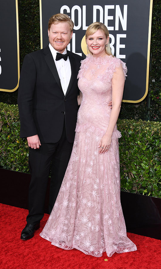 <a href=/tags/0/kirsten-dunst><strong>Kirsten Dunst</a></strong> and her <i>Fargo</i> co-star <strong>Jesse Plemons</strong> looked very sweet on the red carpet.