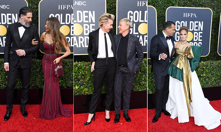 The 2020 <Strong><a href=/tags/0/golden-globe-awards>Golden Globe Awards</a></strong> had plenty of lovely viral moments, as winners such as <Strong><a href=/tags/0/ellen-degeneres>Ellen DeGeneres</a></strong>, <strong><a href=/tags/0/elton-john>Elton John</a></strong> and <Strong><A href=/tags/0/brad-pitt>Brad Pitt</a></strong> took home key trophies throughout the evening. The red carpet was also stacked with plenty of gorgeous sartorial moments - and many stars walked it with their partners!