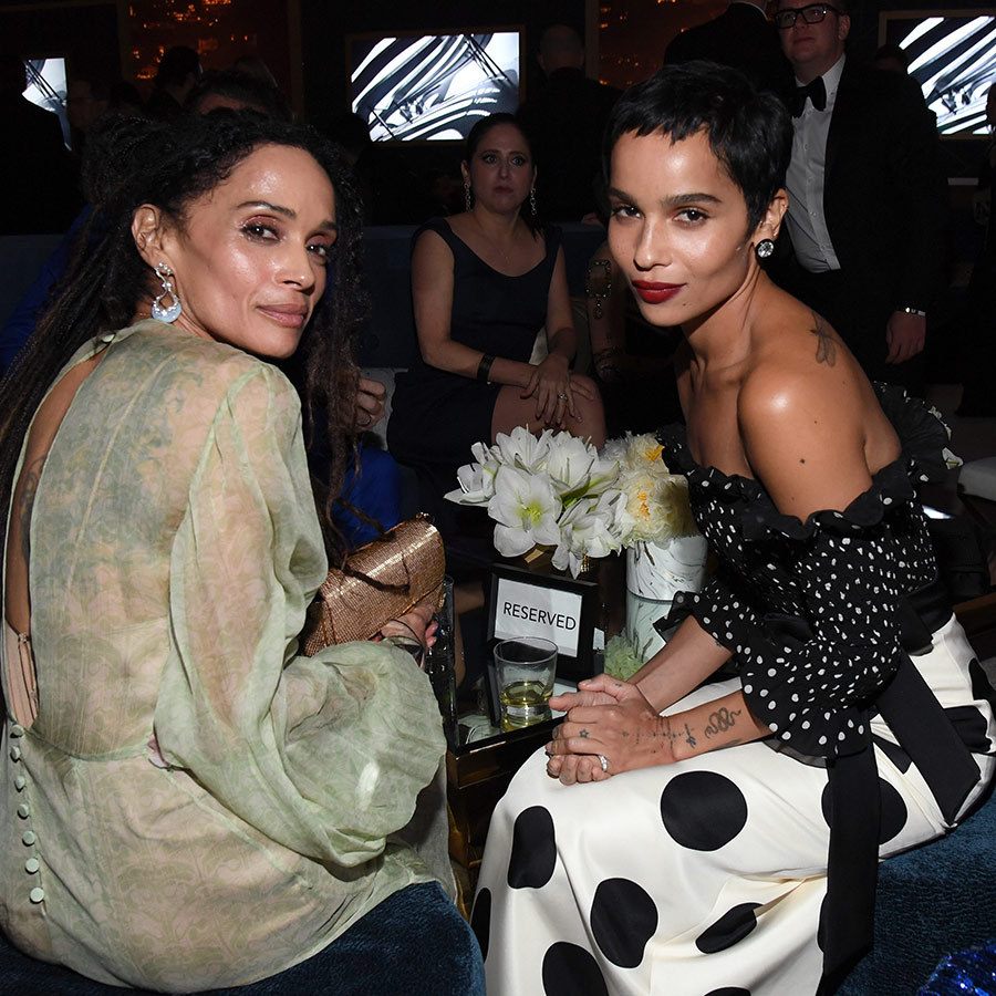 Mother-daughter moment! <strong><a href=/tags/0/lisa-bonet>Lisa Bonet</a></strong> and <strong><a href=/tags/0/zoe-kravitz>Zoe Kravitz</a></strong> enjoyed some family time at the same party.
