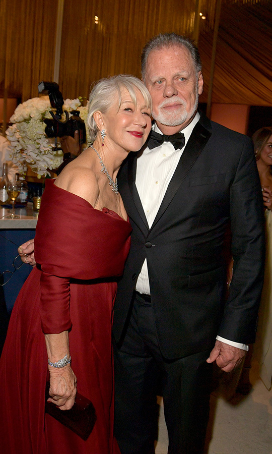 <strong><a href=/tags/0/helen-mirren>Helen Mirren</a></strong> and husband <Strong>Taylor Hackford</strong> looked very much in love at the InStyle and Warner Bros. after-party.