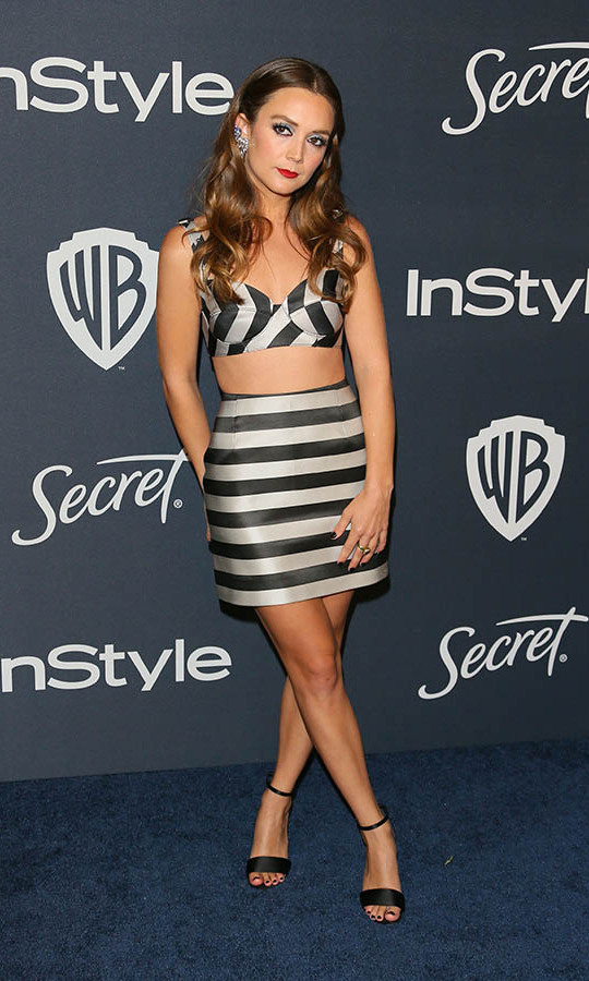 <a href=/tags/0/billie-lourd><strong>Billie Lourd</a></strong> looked playful in black-and-white striped coordinates and statement earrings at the 21st Annual InStyle and Warner Bros. Pictures Golden Globe after-party. <p> Photo: © JEAN-BAPTISTE LACROIX/AFP via Getty Images