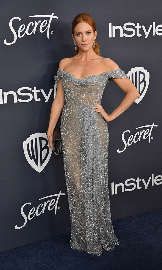 <a href=/tags/0/brittany-snow><strong>Brittany Snow</strong></a>'s steel blue twinkling gown had such glamour at the 21st Annual Warner Bros. and InStyle Golden Globe after-party. <p> Photo: © Gregg DeGuire/WireImage