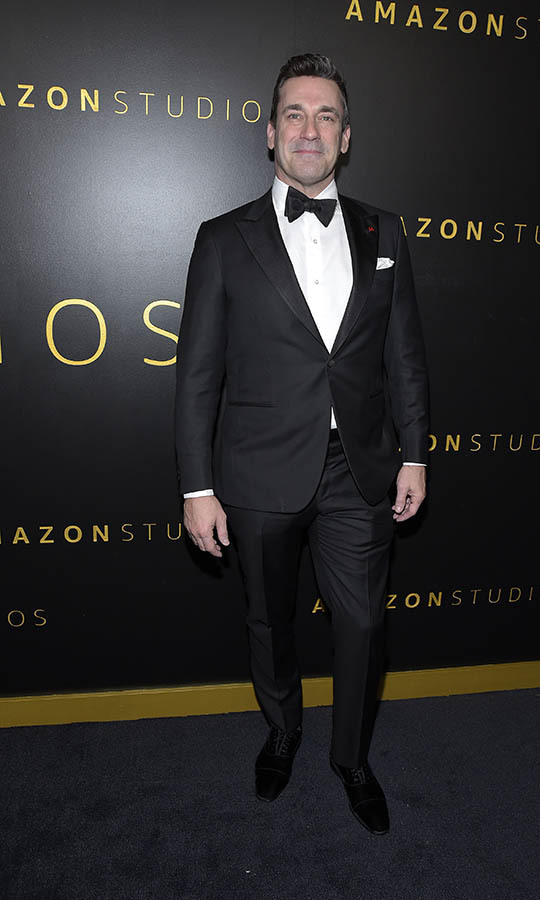 <a href=/tags/0/jon-hamm><strong>Jon Hamm</strong></a> cut a classic figure at the Amazon Studios Golden Globes after-party. <p> Photo: © Michael Tullberg/FilmMagic