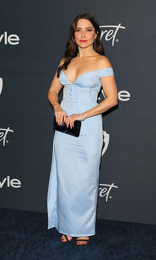 <a href=/tags/0/sophia-bush><strong>Sophia Bush</strong></a> looked beautiful in a powder blue gown by <strong>John Paul Ataker</strong> at the 21st Annual InStyle and Warner Bros. Pictures Golden Globe after-party. <p> Photo: © JEAN-BAPTISTE LACROIX/AFP via Getty Images