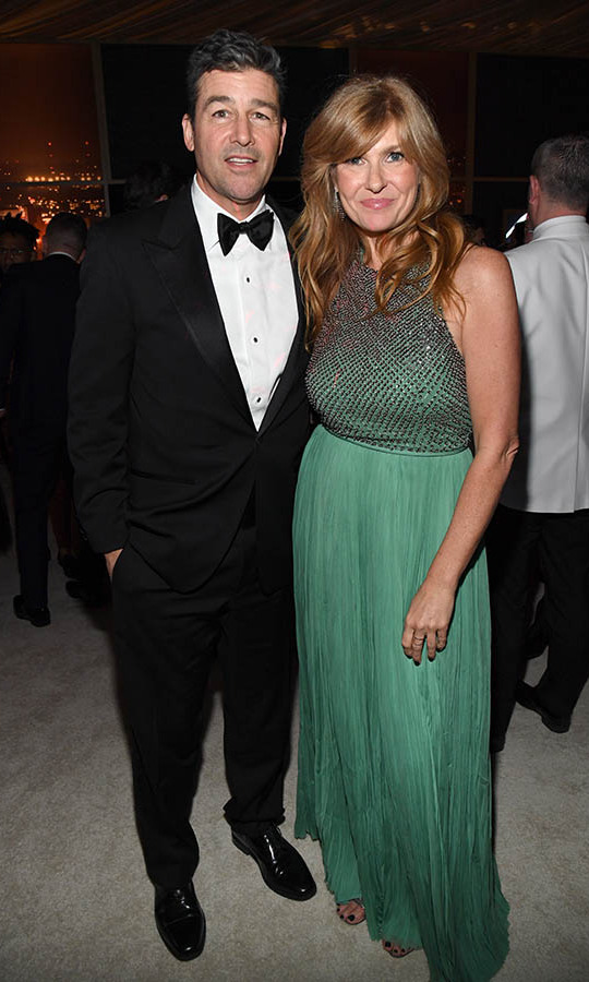 One-time <em>Friday Night Lights</em> co-stars <a href=/tags/0/kyle-chandler><strong>Kyle Chandler</strong></a> and <a href=/tags/0/connie-britton><strong>Connie Britton</a></strong> struck a pose together at the 2020 InStyle and Warner Bros. 77th Annual Golden Globe Awards post-party. <p>Photo: © Kevin Mazur/Getty Images for InStyle