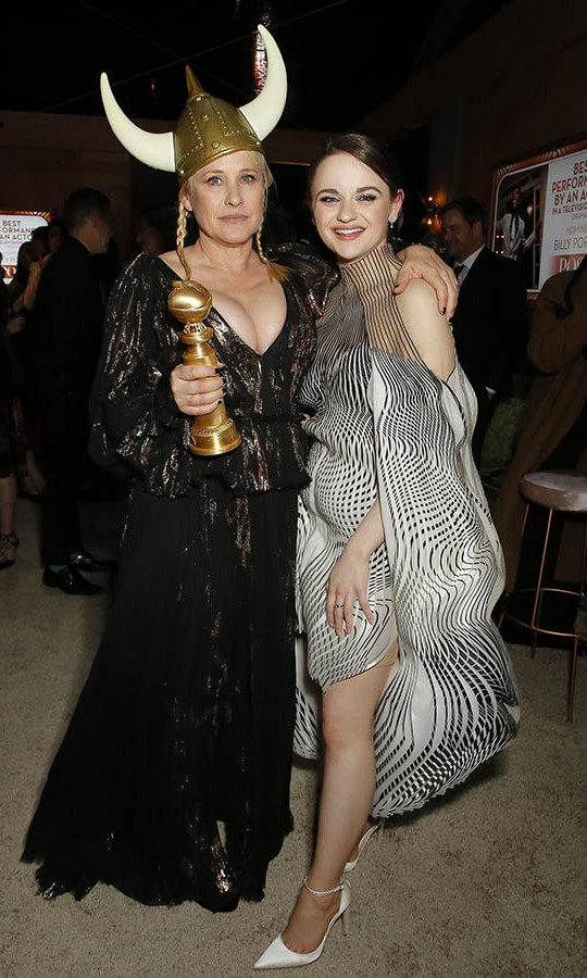 <em>The Act</em> mother-daughter <a href=/tags/0/patricia-arquette><strong>Patricia Arquette</a></strong> and <a href=/tags/0/joey-king><strong>Joey King</a></strong> reunited at the 2020 Walt Disney Company Post-Golden Globe Awards Show celebration. <p>Photo: © Rachel Murray/Getty Images for Hulu
