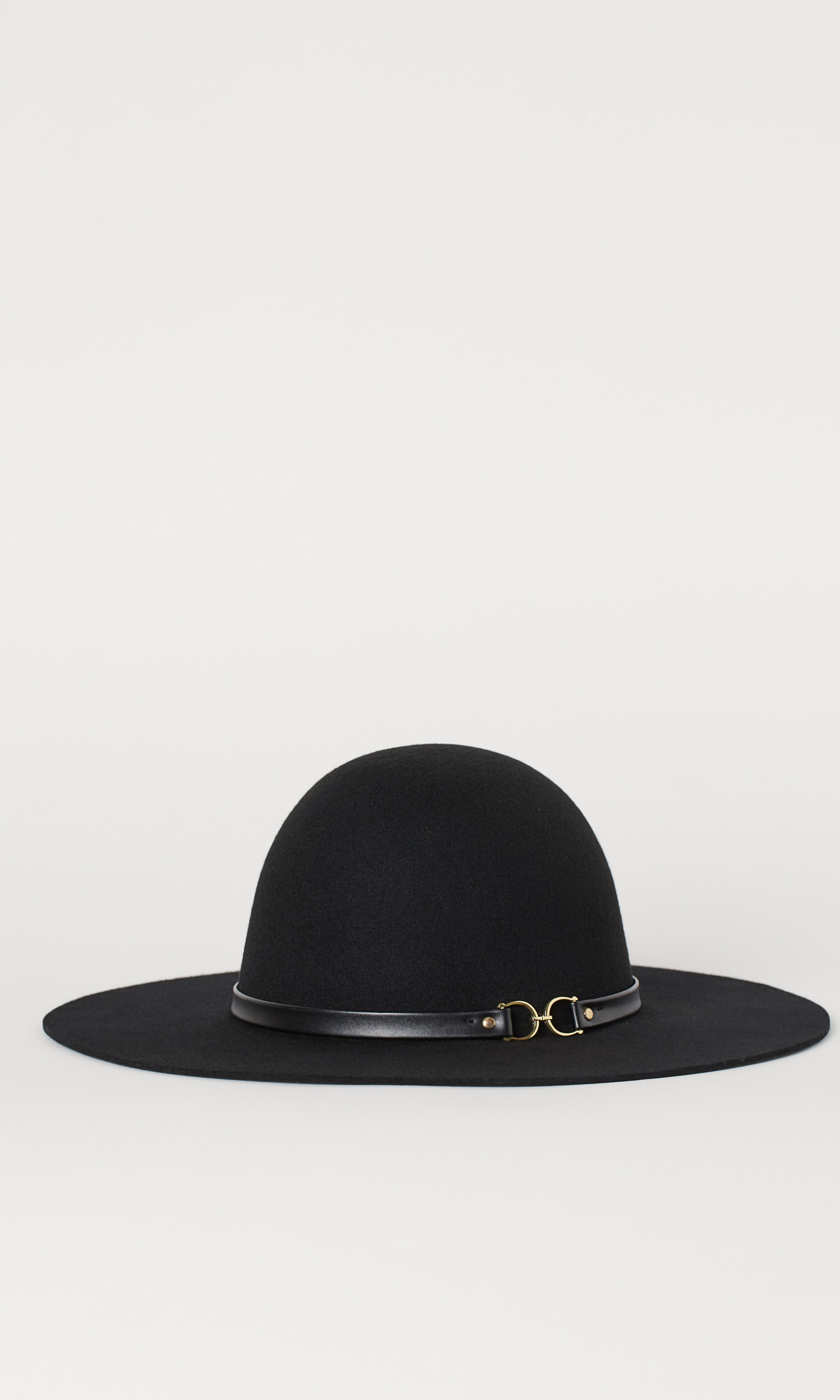 "<strong><a href=""https://ca.hellomagazine.com/tags/0/hm"">H&M</a></strong>'s black Felted Wool Hat offers the same versatility as Kate's navy style. This version feels extra special thanks to the faux leather band with golden D-ring detail.</p><p>Felted Wool Hat, $34.99, <a href=""https://www2.hm.com/en_ca/productpage.0818890001.html"">H&M</a></p><p>Screenshot via hm.com"