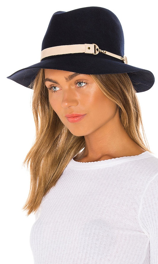 Wear this sophisticated <strong>Bijou Van Ness</strong> Sunset Boulevard Hat when layering up in the cold or to add interest to jeans and a T-shirt. The 100 per cent wool style boasts a cream leather band with gold-tone metallic accent.</p><p>Bijou Van Ness Sunset Boulevard Hat, $385.79,
