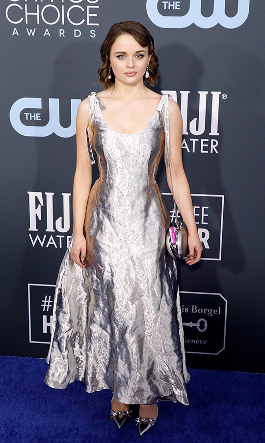What a shining look! <a href=/tags/0/joey-king><strong>Joey King</strong></a> commanded attention in this flowing <a href=/tags/0/prada><strong>Prada</strong></a> ensemble. <p>Photo: &copy; Taylor Hill/Getty Images
