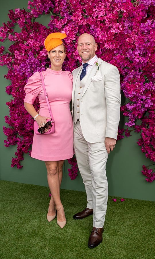 <a href=/tags/0/zara-tindall><strong>Zara Tindall</strong></a> and <a href=/tags/0/mike-tindall><strong>Mike Tindall</a></strong> were a stylish pair at the Moet Marquee Magic Millions Raceday at the Gold Coast Turf Club on Jan. 11 in Australia. <p>Photo: &copy; Marc Grimwade/Getty Images