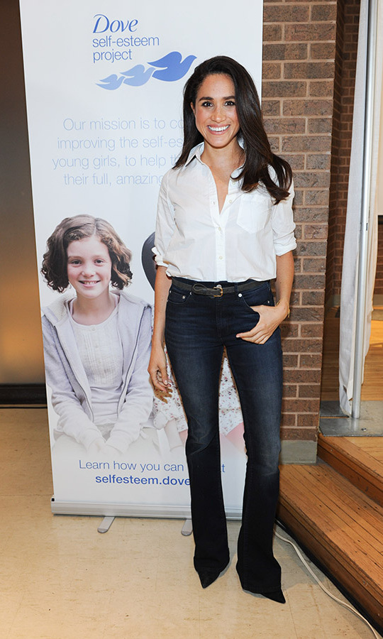 <h2>Meghan in Toronto, 2015</h2></p><p>The star was on hand to share the new Dove Self-Esteem Project resources with youth workers at Toronto's Earl Bales Community Centre. The resources were intended to help young girls reach their full potential. Meghan has always been a passionate advocate for the rights of girls and women, a cause she continues to advance today and worked hard on in her days as a senior Royal Family member. <p>Photo: © George Pimentel/Getty Images