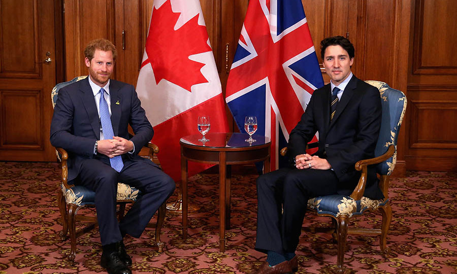 <h2>Harry in Toronto, 2016</h2></p><p>The prince met with our prime minister at a bilateral meeting at the Fairmont Royal York Hotel in Toronto as part of the 2017 Invictus Games launch. <p>Photo: © Chris Jackson/Getty Images