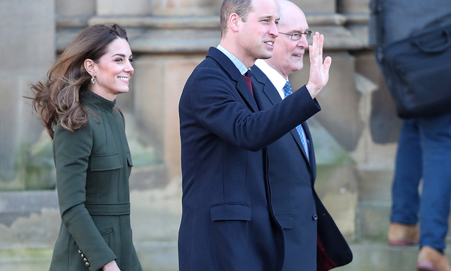 <strong><a href=/tags/0/kate-middleton>Duchess Kate</a></strong> and <strong><a href=/tags/0/prince-william>Prince William</a></strong> were all smiles and looked very happy to work on Jan. 15 as they stepped out to Bradford, West Yorkshire. 