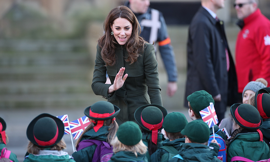 She said hello to some very sweet schoolchildren who were eager to meet her!