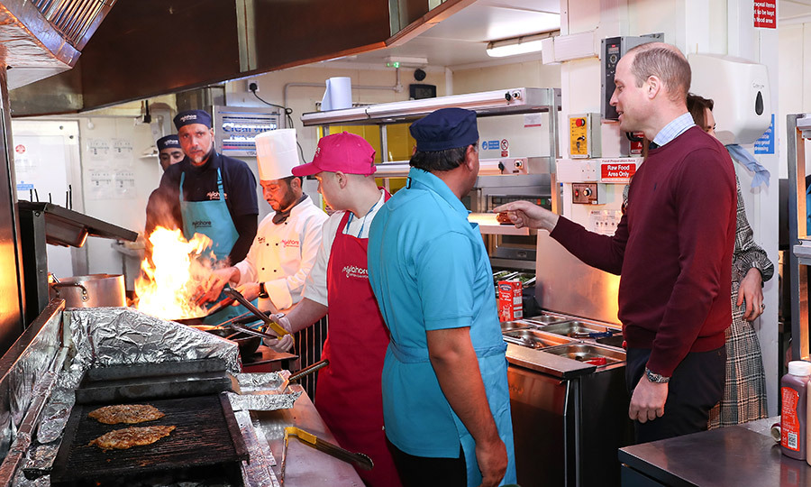 After leaving City Hall, the Cambridges visited MyLahore, a British Asian restaurant specializing in Pakistani cuisine. William and Kate were thrilled to be there and hear about what they're doing to help young people find employment, especially since they spent time in Lahore on their <a href=/tags/0/2019-pakistan-royal-tour><strong>tour of Pakistan</a></strong> last year!