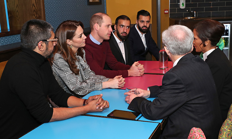 Kate and William were very interested in hearing about the initiative, which provides a hot two-course meal for people who are homeless or struggling to feed themselves.