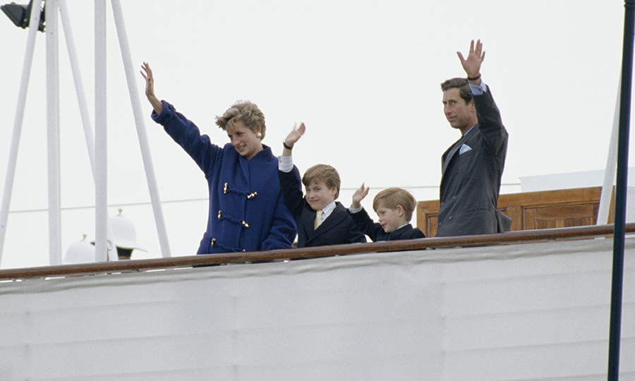 <h2>Harry, William, Charles and Diana in Toronto, 1991</h2>