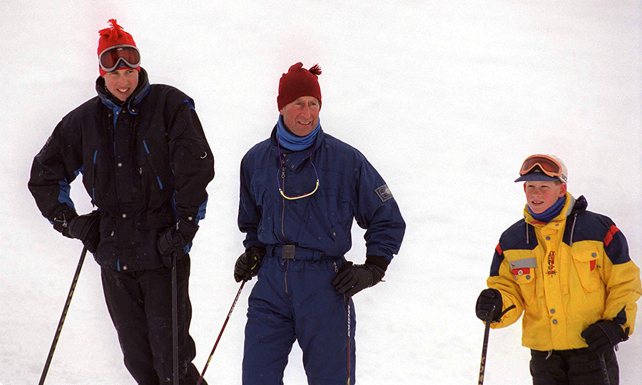 <h2>William, Charles and Harry in Whistler, B.C., 1998</h2>