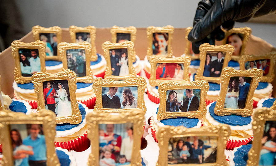 Here are some of the edible pictures in question, which depict memorable moments from the Cambridges' lives.