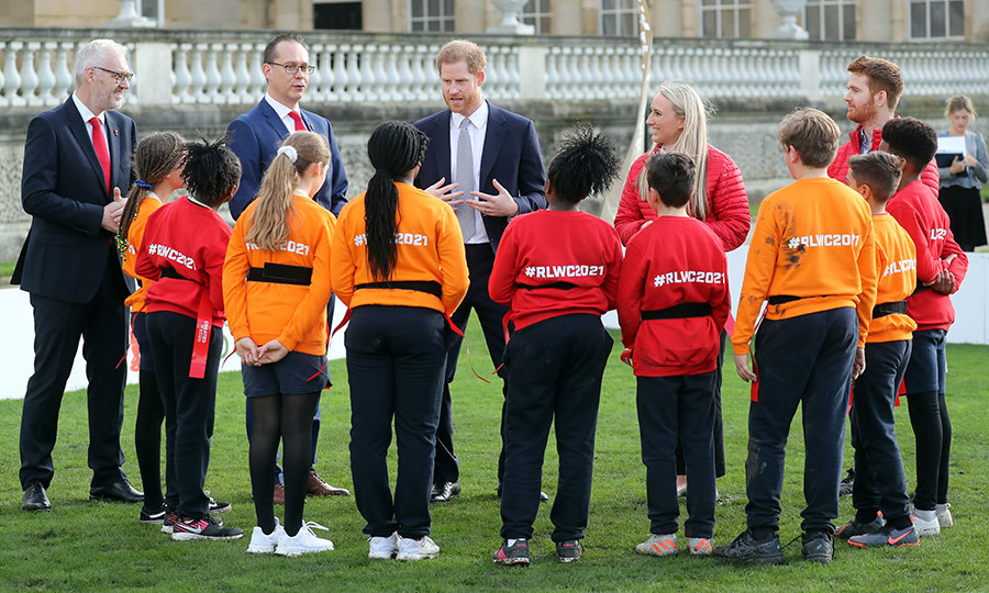 The group were joined by children from St Vincent de Paul Catholic primary school, and Harry, who is a natural with kids, had a great time talking with them about the value of the sport.