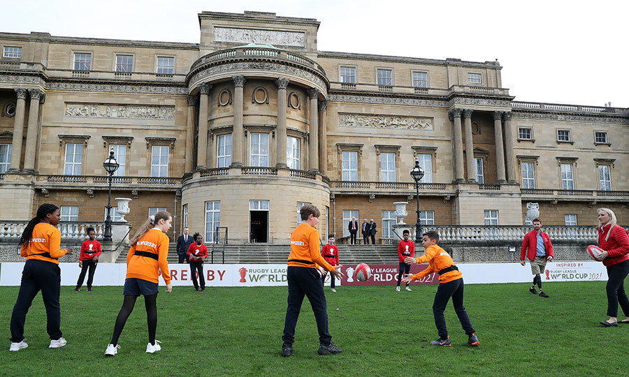 The students also showed off their rugby skills.