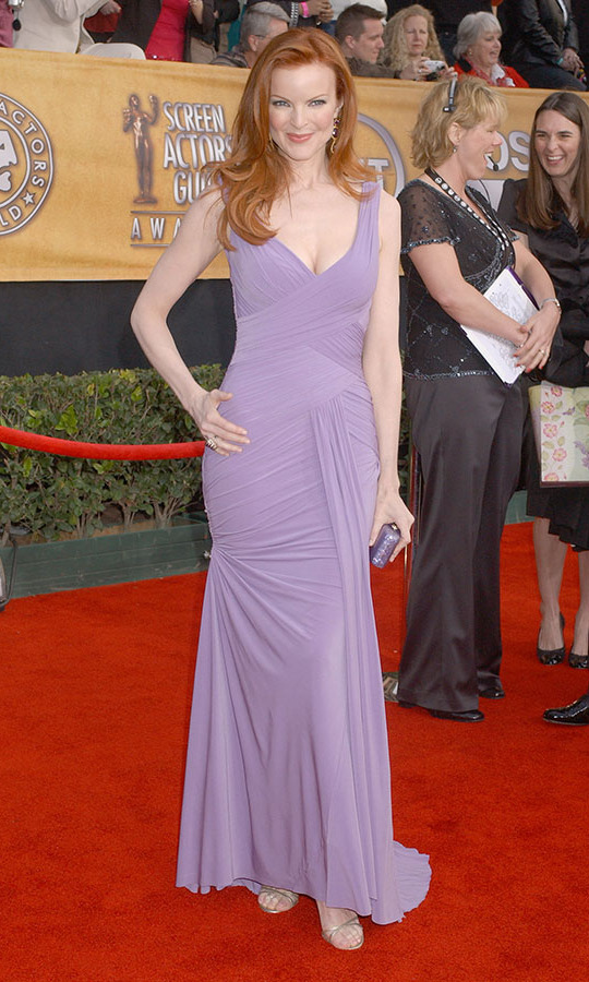 <h2>Marcia Cross, 2006 </h2><p><strong>Marcia Cross</strong> looked so pretty in lilac at the 2006 SAGs. <p>Photo: © Gregg DeGuire/WireImage