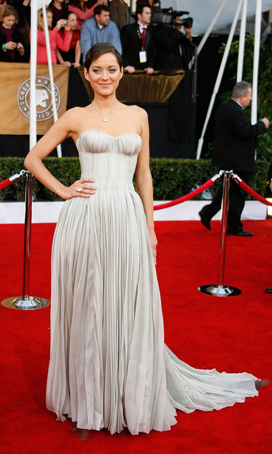 "<h2>Marion Cotillard, 2008</h2><p>The French actress charmed at the 14th Annual Screen Actors Guild Awards in a pleated <a href=""https://ca.hellomagazine.com/tags/0/nina-ricci""><strong>Nina Ricci</strong></a> dress. <p>Photo: © Jeff Vespa/WireImage"