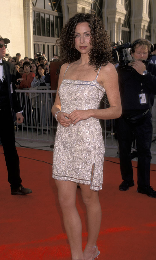 <h2>Minnie Driver, 1998</h2><p><strong>Minnie Driver</strong> went short at the 1998 SAG Awards. Her embellished mini dress shone with every turn! <p>Photo: © Ron Galella/Ron Galella Collection via Getty Images