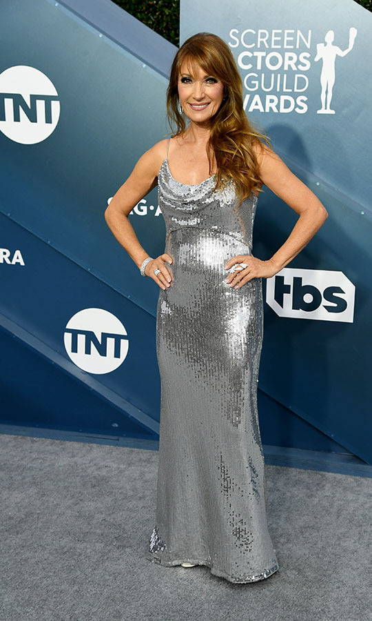 <a href=/tags/0/jane-seymour><strong>Jane Seymour</strong></a> glimmered in her silky silver gown. <p> Photo: &copy; Jeff Kravitz/FilmMagic