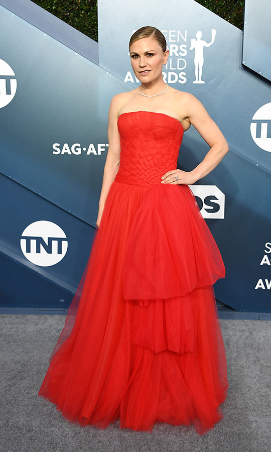 <strong>Anna Paquin</strong> was a vision in a tulle red gown. <p>Photo: &copy; Steve Granitz/WireImage