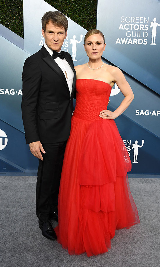 <strong>Stephen Moyer</strong> and <strong>Anna Paquin</strong> struck fierce poses together. <p>Photo: &copy; Steve Granitz/WireImage