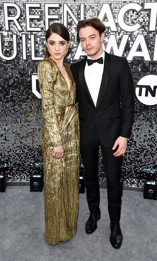 <em>Stranger Things</em> co-stars and lovebirds <strong>Natalia Dyer</strong> and <strong>Charlie Heaton</strong> made a show-stopping entrance in their glam looks. <p> Photo: &copy; John Shearer/Getty Images for PEOPLE