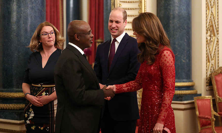 Kate was keen to greet all the invitees, including the IMF's Director's African Department, <strong>Abebe Aemro Selassie</strong>. 