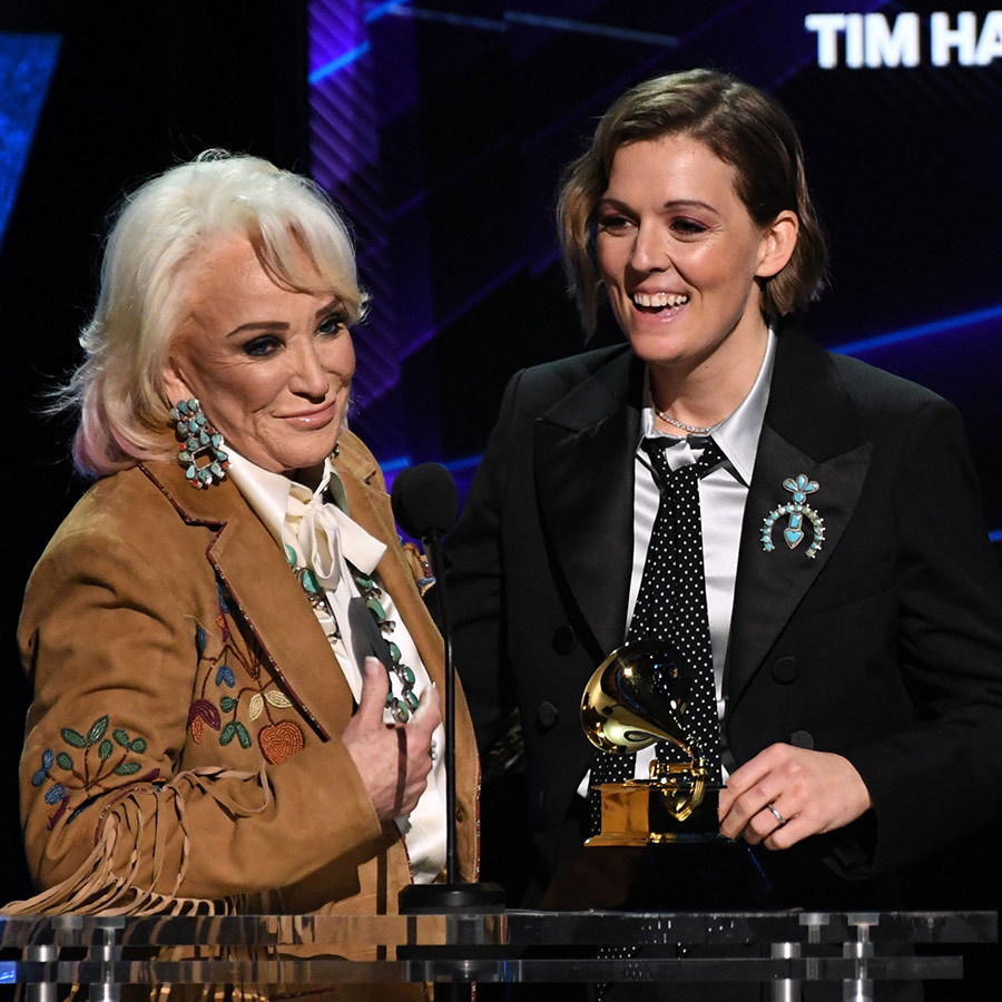 "<strong><a href=/tags/0/tanya-tucker>Tanya Tucker</a></strong> and <strong><a href=/tags/0/brandi-carlise>Brandi Carlile</a></strong> picked up the award for Best Country Song for ""Bring My Flowers Now."" 
