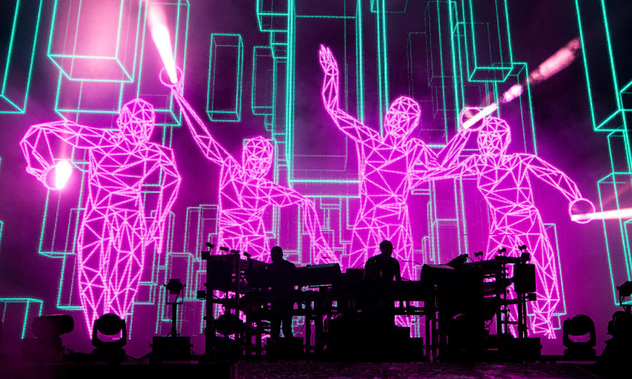 "<strong>The Chemical Brothers</strong> (pictured on tour in 2018) took home two awards: Best Dance Recording for ""Got to Keep On"" and Best Dance/Electronic Album for <I>No Geography</I>.